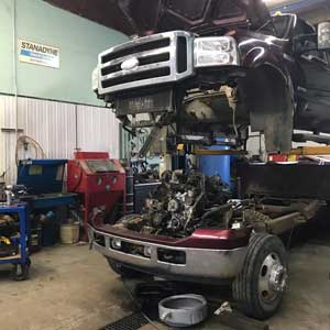 Trucks Being Repaired